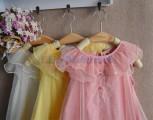 Váy voan cổ bèo TBG001