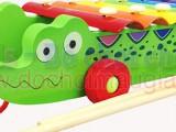 Đàn kéo 8 thanh Xylophone hình cá sấu xanh đáng yêu DK005