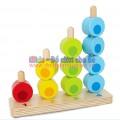 Đồ chơi gỗ - Bộ xếp hình cọc gỗ XH007