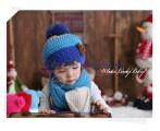 Bộ khăn mũ len đính gấu xinh xắn KM001