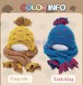 Bộ khăn mũ len xinh xắn kiểu mới 2015 KM005