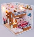 Nhà búp bê DIY - Phòng ngủ liên hoàn dễ thương