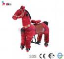 Thú nhún di động - Ngựa đỏ bờm đen cho bé 3 - 8 tuổi