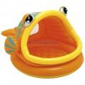 Bể bơi phao mái che 57109- Hình cá dễ thương cho bé