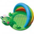 Bể bơi phao chú ếch Intex 57416- Bể bơi cho bé có mái che tiện dụng nhiều màu sắc