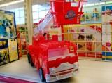Mô hình xe ô tô cứu hỏa có thang dài cho bé