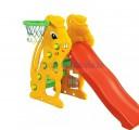 Cầu trượt đơn hình thỏ có rổ ném bóng CT005