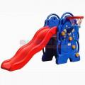 Cầu trượt đơn kèm rổ ném bóng hình chú voi