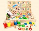 Đồ chơi toán học - Bảng tính toán học đa năng có cọc tháp hình học