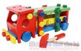 Đồ chơi gỗ - Bộ lắp ghép mô hình ô tô LG003