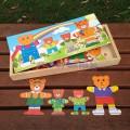 Bộ ghép hình gia đình gấu LG025 gia đình là số 1