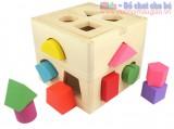 Hộp thả khối hình học giúp bé làm quen với các hình khối LG027