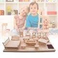 Bộ ghép mô hình nội thất 3D thông minh 184 chi tiết bằng gỗ