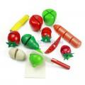 Bộ đồ chơi thái hoa quả kèm dụng cụ dao thớt bằng gỗ