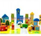 Bộ đồ chơi xếp hình mô hình thành phố LT013 - Mô hình thành phố thu nhỏ của bé