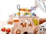 Đồ chơi gỗ xe tải luồn hạt và thả hình động vật đa năng TH002