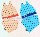 Set mũ tai thỏ kèm khăn tam giác KM004