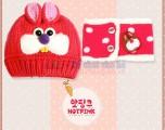 Set mũ len thỏ Bunny kèm khăn choàng dễ thương KM007