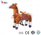 Thú nhún di động - Ngựa nâu chân trắng cho bé 4 - 16 tuổi