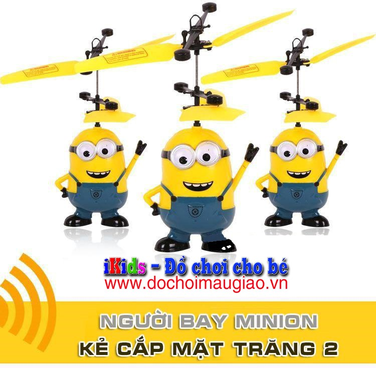 do choi tre em nguoi bay minion 1
