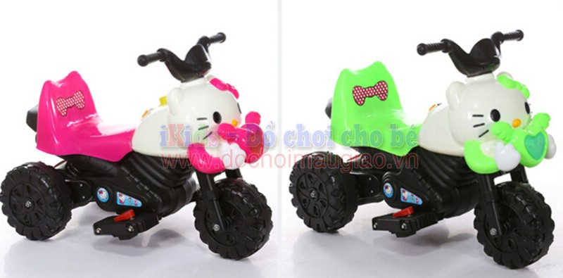 xe may dien tre em hello kitty dochoimaugiaovn 2