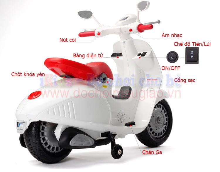 xe may dien vespa tre em cao cap yh8820 dochoimaugiao vn 5